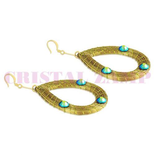 Brinco em capim dourado decorado com cristais da Swarovski® 174192