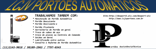 Manutenção de  Portão Automático 11 2516-9765 183489