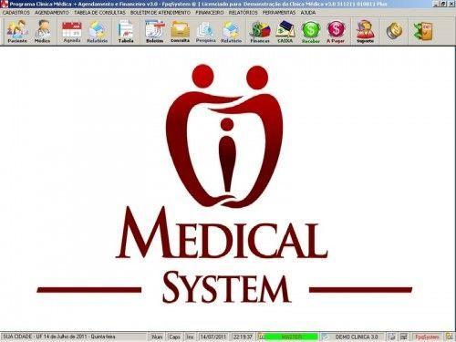 Programa para Consultório e Clinica Médica com Agenda e Financeiro v3.0 3115