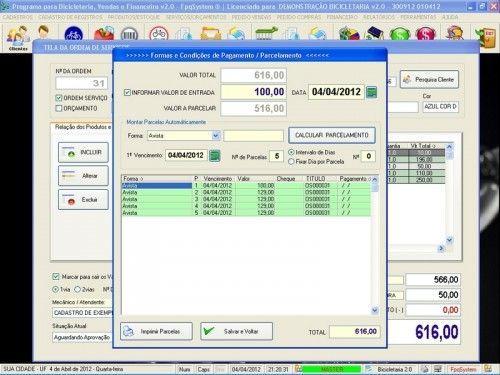 Programa para Bicicletaria com Ordem de Serviço Vendas e Financeiro v2.0  FpqSystem 6667