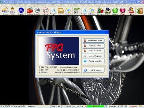 Programa para Bicicletaria com Ordem de Serviço Vendas e Financeiro v2.0  FpqSystem 6668