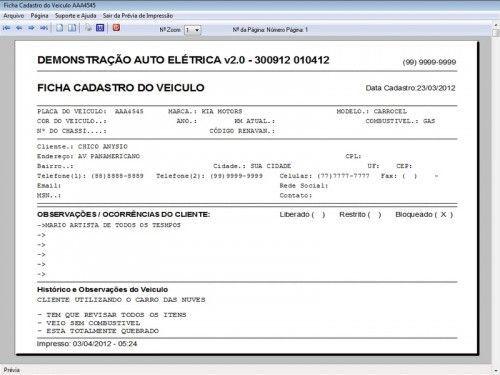 Programa para AutoElétrica + Ordem de Serviço Vendas e Financeiro v2.0 6691