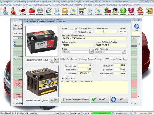 Programa para AutoElétrica + Ordem de Serviço Vendas e Financeiro v2.0 6695