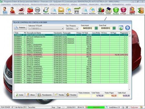 Programa para AutoElétrica + Ordem de Serviço Vendas e Financeiro v2.0 6697