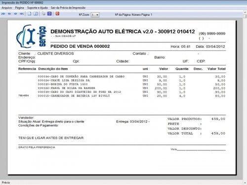 Programa para AutoElétrica + Ordem de Serviço Vendas e Financeiro v2.0 6699