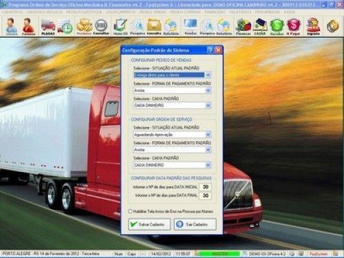 Programa OS Oficina Mecânica Caminhão com Serviços Orçamentos Vendas e Financeiro v4.2 6725