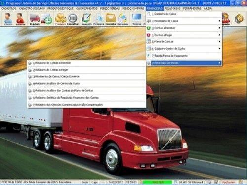 Programa OS Oficina Mecânica Caminhão com Serviços Orçamentos Vendas e Financeiro v4.2 6731