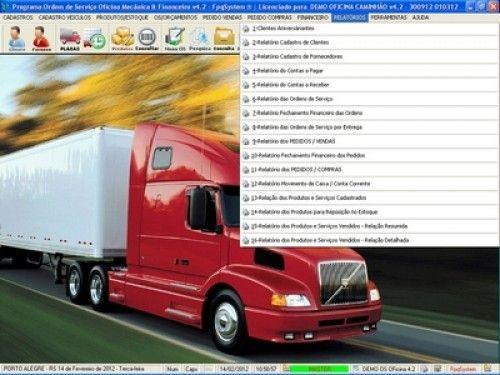 Programa OS Oficina Mecânica Caminhão com Serviços Orçamentos Vendas e Financeiro v4.2 6738