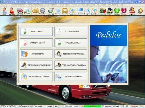 Programa OS Oficina Mecânica Caminhão com Serviços Orçamentos Vendas e Financeiro v4.2 6739