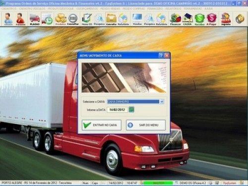 Programa OS Oficina Mecânica Caminhão com Serviços Orçamentos Vendas e Financeiro v4.2 6740