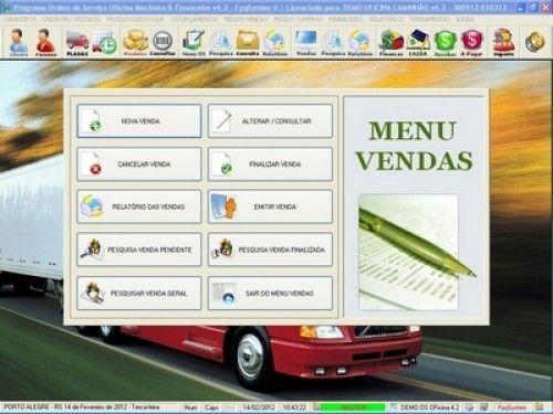 Programa OS Oficina Mecânica Caminhão com Serviços Orçamentos Vendas e Financeiro v4.2 6741