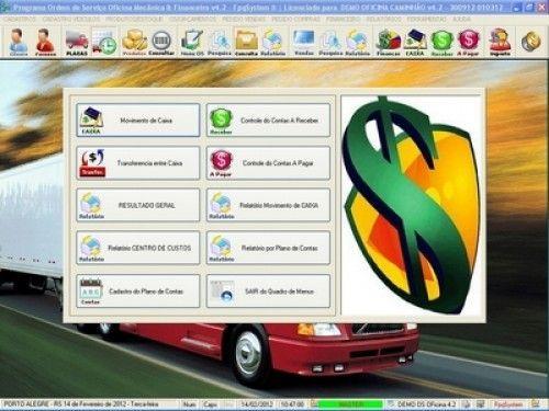 Programa OS Oficina Mecânica Caminhão com Serviços Orçamentos Vendas e Financeiro v4.2 6742