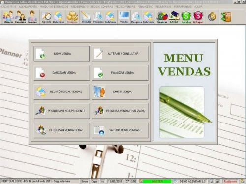 Programa Agendamento, Vendas, Compras Atendimento e Financeiro v3.0 11556