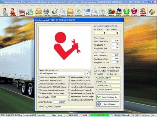 Programa OS Oficina Mecanica Caminhão com Vendas, Compras e Financeiro v4.2 11598