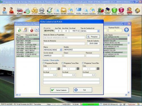 Programa OS Oficina Mecanica Caminhão com Vendas, Compras e Financeiro v4.2 11601