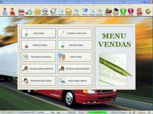 Programa OS Oficina Mecanica Caminhão com Vendas, Compras e Financeiro v4.2 11606