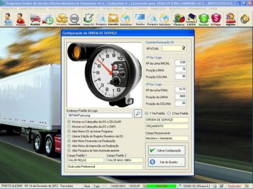 Programa OS Oficina Mecanica Caminhão com Vendas, Compras e Financeiro v4.2 11608