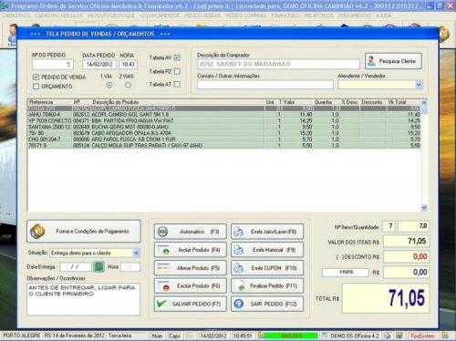 Programa OS Oficina Mecanica Caminhão com Vendas, Compras e Financeiro v4.2 11610