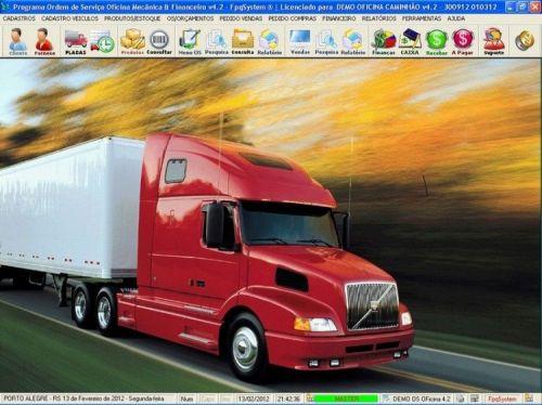 Programa OS Oficina Mecanica Caminhão com Vendas, Compras e Financeiro v4.2 11612