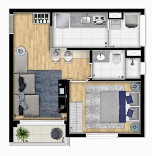Apartamento Centro- São Paulo - My Space Bela Vista 520214