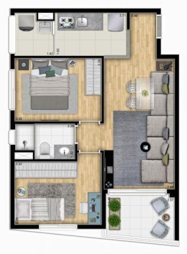 Apartamento Centro- São Paulo - My Space Bela Vista 520215