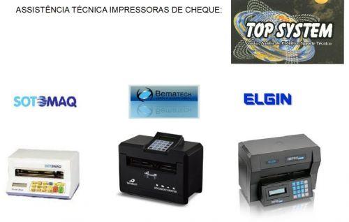 Assistência técnica de máquina de cheque em Jundiaí 298020
