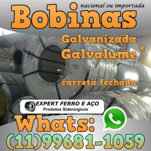 Bobinas de Chapa Galvanizada Galvalume Zincada Aço Carbono Expert Ferro e Aço Distribuidor  fabricar telhas metalicas dry wall slitter steel frame 499092