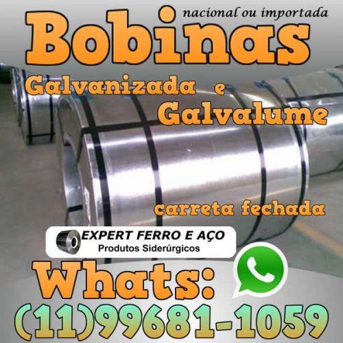 Bobinas de Chapa Galvanizada Galvalume Zincada Aço Carbono Expert Ferro e Aço Distribuidor  fabricar telhas metalicas dry wall slitter steel frame 499094