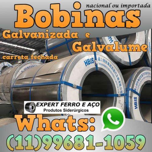 Bobinas de Chapa Galvanizada Galvalume Zincada Aço Carbono Expert Ferro e Aço Distribuidor  fabricar telhas metalicas dry wall slitter steel frame 499098