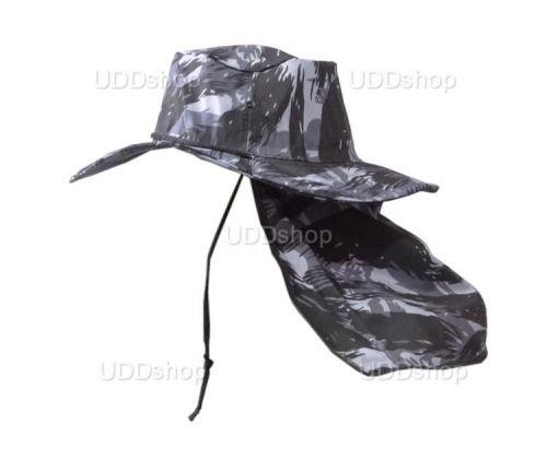 Chapéu Australiano Camuflado com Protetor De Nuca para Pescador Mateiro Agricultor Cinza 72037