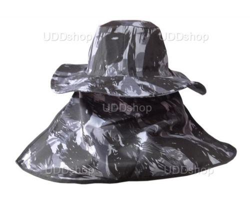 Chapéu Australiano Camuflado com Protetor De Nuca para Pescador Mateiro Agricultor Cinza 72039