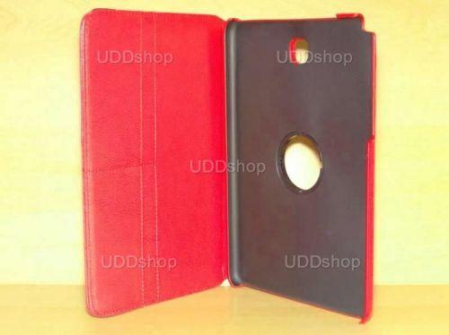 Capa Case Carteira Giratória 360º VERMELHA Tablet Samsung Galaxy Tab A 8.0 Modelos SM-P350n, SM-P355m, SM-T350n ou SM-T355n + Frete Grátis 195843