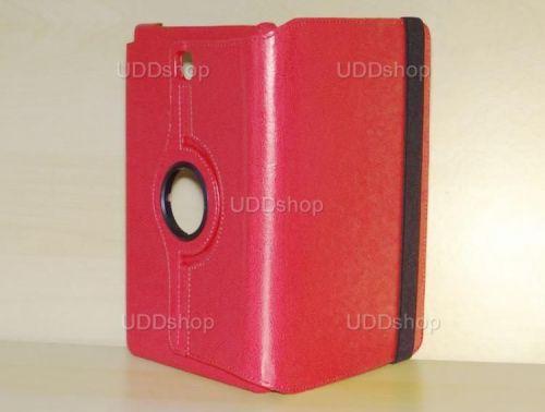 Capa Case Carteira Giratória 360º VERMELHA Tablet Samsung Galaxy Tab A 8.0 Modelos SM-P350n, SM-P355m, SM-T350n ou SM-T355n + Frete Grátis 195844