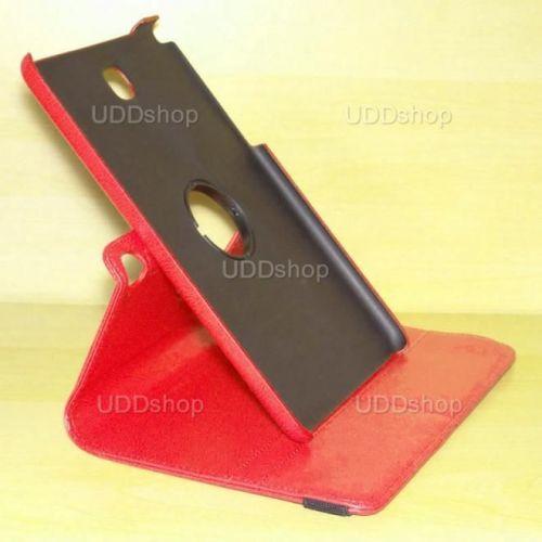 Capa Case Carteira Giratória 360º VERMELHA Tablet Samsung Galaxy Tab A 8.0 Modelos SM-P350n, SM-P355m, SM-T350n ou SM-T355n + Frete Grátis 195846