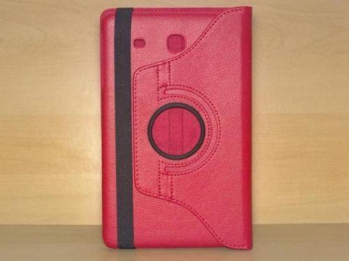 Capa Case Giratória 360º VERMELHA Tablet Samsung Galaxy Tab E 9.6 Modelos SM-T560n ou SM-T561m + Frete Grátis 212187
