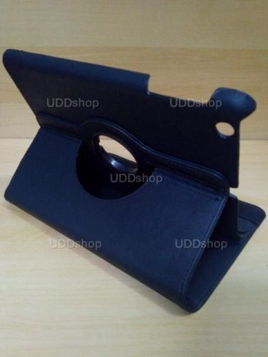 Capa Case Capinha Giratória 360º PRETA Tablet Apple iPad Mini 1 códigos A1432 A1454 A1455 -- iPad Mini 2 códigos A1489 A1490 A1491 + Frete Grátis 256031