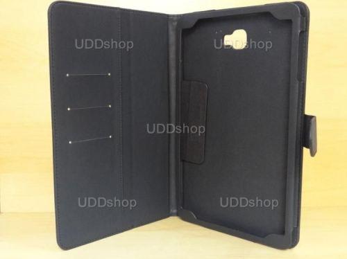 Capa Case Capinha Carteira PRETA Tablet Samsung Galaxy Tab A 10.1 (2016) Modelos SM-P580, SM-P585m, SM-T580 ou SM-T585m + Frete Grátis 269765