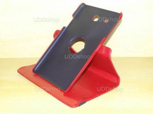 Capa Case Carteira Giratória 360º VERMELHA Tablet Samsung Galaxy Tab E 9.6 Modelos SM-T560n ou SM-T561m + Frete Grátis 339600