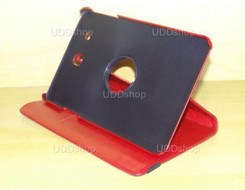 Capa Case Carteira Giratória 360º VERMELHA Tablet Samsung Galaxy Tab E 9.6 Modelos SM-T560n ou SM-T561m + Frete Grátis 339599