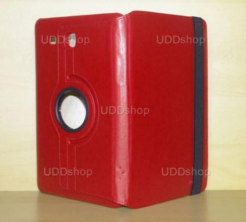 Capa Case Carteira Giratória 360º VERMELHA Tablet Samsung Galaxy Tab E 9.6 Modelos SM-T560n ou SM-T561m + Frete Grátis 339601