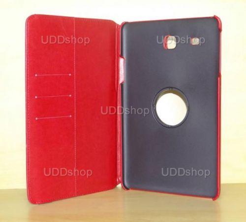 Capa Case Carteira Giratória 360º VERMELHA Tablet Samsung Galaxy Tab E 9.6 Modelos SM-T560n ou SM-T561m + Frete Grátis 339602
