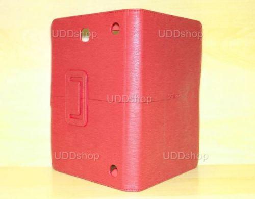 Capa Case Carteira Couro VERMELHA Tablet Samsung Galaxy Tab A 8.0 Modelos SM-P350n, SM-P355m, SM-T350n ou SM-T355n V3 + Frete Grátis 339578