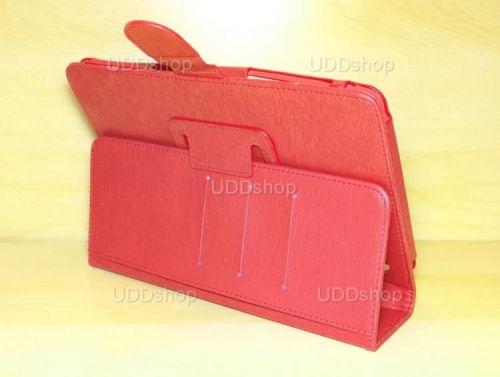 Capa Case Carteira Couro VERMELHA Tablet Samsung Galaxy Tab A 8.0 Modelos SM-P350n, SM-P355m, SM-T350n ou SM-T355n V3 + Frete Grátis 339581