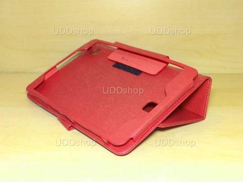 Capa Case Carteira Couro VERMELHA Tablet Samsung Galaxy Tab A 8.0 Modelos SM-P350n, SM-P355m, SM-T350n ou SM-T355n V3 + Frete Grátis 339579