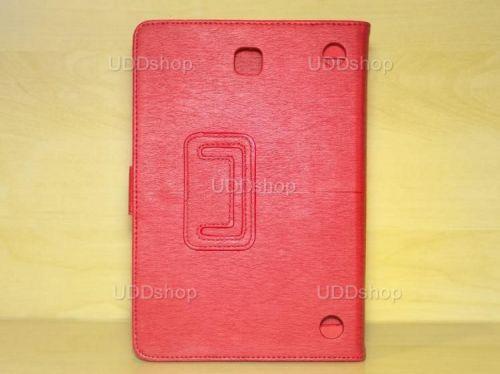 Capa Case Carteira Couro VERMELHA Tablet Samsung Galaxy Tab A 8.0 Modelos SM-P350n, SM-P355m, SM-T350n ou SM-T355n V3 + Frete Grátis 339576