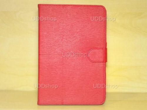 Capa Case Carteira Couro VERMELHA Tablet Samsung Galaxy Tab A 8.0 Modelos SM-P350n, SM-P355m, SM-T350n ou SM-T355n V3 + Frete Grátis 339575
