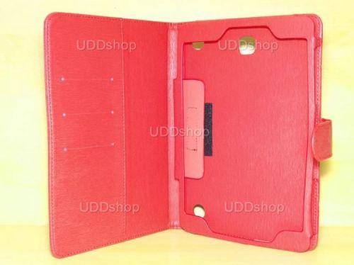 Capa Case Carteira Couro VERMELHA Tablet Samsung Galaxy Tab A 8.0 Modelos SM-P350n, SM-P355m, SM-T350n ou SM-T355n V3 + Frete Grátis 339577