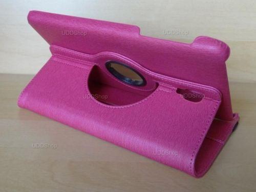 Capa Case Capinha Carteira Giratória 360° PINK Tablet Samsung Galaxy Tab A 8.0 (2017) SM-T380 SM-T385m + Frete Grátis 419032