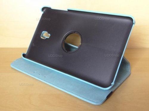 Capa Case Capinha Carteira Giratória 360° AZUL Turquesa Tablet Samsung Galaxy Tab A 8.0 (2017) SM-T380 SM-T385m + Frete Grátis 419019