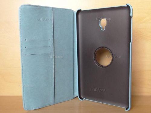 Capa Case Capinha Carteira Giratória 360° AZUL Turquesa Tablet Samsung Galaxy Tab A 8.0 (2017) SM-T380 SM-T385m + Frete Grátis 419016